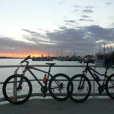 Biking around Lakes Entrance image